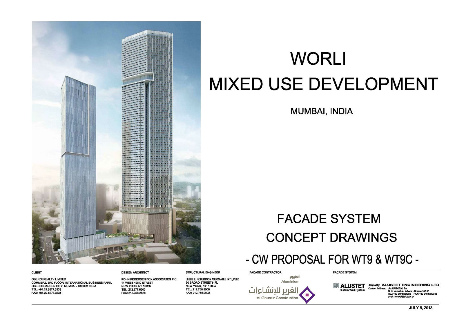 WORLI MIXED USE DEVELOPMENT TOWER B – MUMBAI – alustet